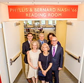 Newly dedicated reading room celebrates the life and career of Bernard Nash '66.